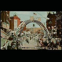 1908 Antique 4th of July Postcard, 4th of July Celebration Helena, Montana