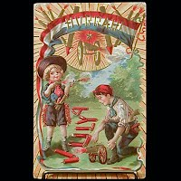 1910 Antique 4th of July Postcard