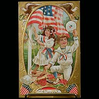 Antique 4th of July Postcard