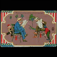 1910 Antique 4th of July Postcard, Where ignorance is bliss tis folly to be wise