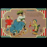 1911 Antique 4th of July Postcard, Ye Spit-devil is a wisely beast...