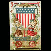 1908 Antique 4th of July Postcard