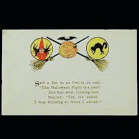 Antique Postcard, Halloween