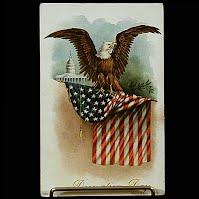 1908 Embossed Antique Postcard, Decoration Day