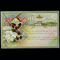 Embossed Antique Postcard, Memorial Day