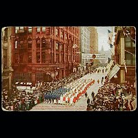 1912 Antique Postcard, Decoration Day Parade St Paul, Minn