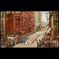 1912 Antique Postcard, Decoration Day Parade St Paul, Minn