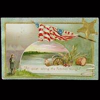 Antique 1909 Memorial Day Postcard