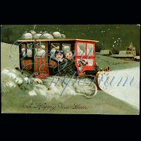 Antique 1909 New Year Car Post Card