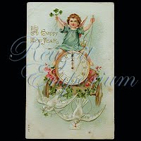 Antique 1908 New Year Post Card