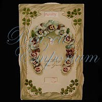 Antique Mechanical 1908 New Year Post Card