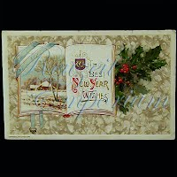 Antique 1910 New Year Post Card