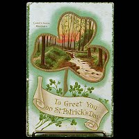 1912 Antique Postcard, To Greet You on St. Patrick's Day