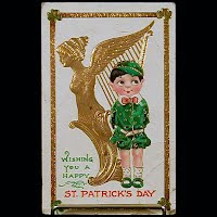 1913 Embossed Antique Postcard, Wishing you a Happy St Patrick's Day