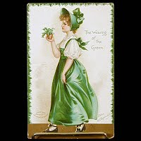 1909 Antique Postcard, Clapsaddle St Patrick's Day, The wearing of the Green