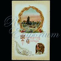 Antique 1910 Embossed Thanksgiving Post Card, Thanksgiving Greeting