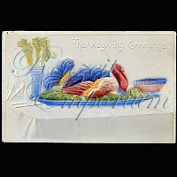 Antique 1907 Embossed Thanksgiving Post Card, Thanksgiving Greetings