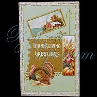 Antique 1911 Embossed Thanksgiving Post Card, Thanksgiving Greetings