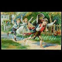 Antique 1908 Embossed Thanksgiving Postcard, Thanksgiving Greetings
