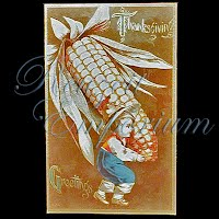 Antique 1909 Embossed Thanksgiving Post Card Thanksgiving Greetings