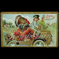 Antique 1911 Embossed Thanksgiving Postcard, Joyous Thanksgiving