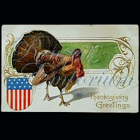 Antique Embossed Thanksgiving Post Card, Thanksgiving Greetings