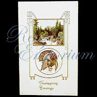Antique 1905 Embossed Thanksgiving Post Card, Thanksgiving Greetings