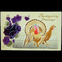 Antique Embossed Thanksgiving Postcard, Thanksgiving Greetings