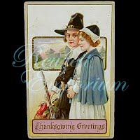 Antique 1913 Embossed Thanksgiving Postcard, Thanksgiving Greetings