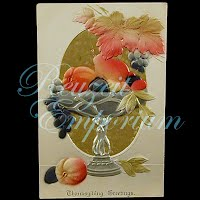 Antique Embossed Thanksgiving Postcard, Thanksgiving Greetings