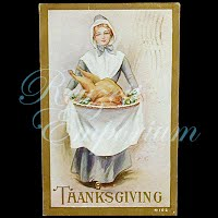 Antique 1909 Embossed Thanksgiving Postcard