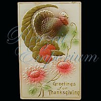 Antique 1911 Embossed Thanksgiving Post Card, Thanksgiving Greeting