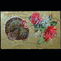 Antique 1909 Embossed Thanksgiving Post Card, Thanksgiving Greeting