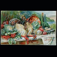 Antique 1908 Embossed Thanksgiving Post Card, Thanksgiving Greeting