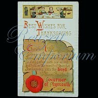 Antique 1910 Embossed Thanksgiving Post Card, Best Wishes for Thanksgiving