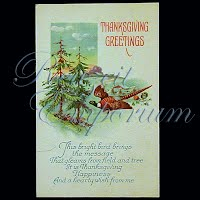 Antique Thanksgiving Post Cards, Thanksgiving Greeting