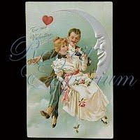 Antique 1908 Embossed Valentine Post Card, To My Valentine