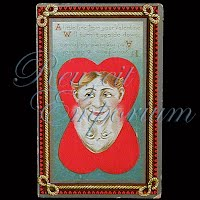 Antique Two Faces Valentine Post Card