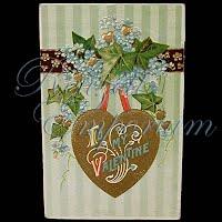 Antique Gel Valentine Post Card