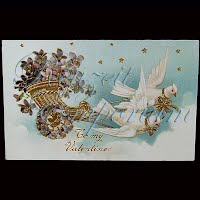 Antique Gel Valentine Post Card