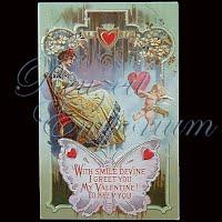 Antique 1921 Embossed Valentine PostCard, Antique 1921 Embossed Valentine Post Card, To My Valentine, A Token of Love