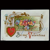 Antique Embossed Valentine Post Card, Antique Embossed Valentine PostCard, Be My Valentine