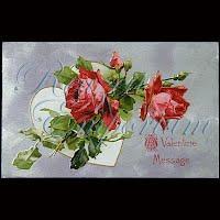 Antique Embossed Valentine Post Card, Antique Embossed Valentine PostCard, A Valentine Message