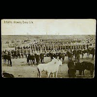Antique Technor Real Photo Military Postcard, Infantry showing Camp Life