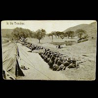 Antique Technor Real Photo Military Postcard, In the Trenches