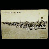 Antique Technor Postcard,Mexican Revolution, U S Mountaine Battery in Mexico
