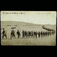 Antique Technor Postcard, Mexican Revolution, Our boys on the March in Mexico