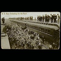 Antique Technor Postcard, Mexican Revolution, U S Boys Embarking for the Front