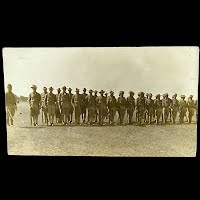 Antique Real Photo Postcard, Mexican Revolution, Troops in Line