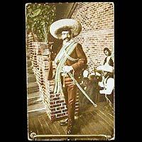 Antique 1913 Photochrom Postcard, Mexican Revolution, Zapata